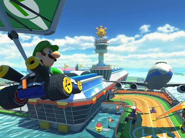 Luigi's death stare: are you enjoying Mario Kart 8?